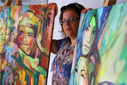 Eman Hakim denga gaya Lukisan Impresionis