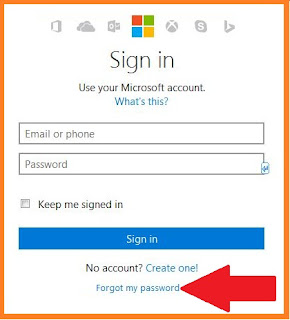 hotmail forgot password