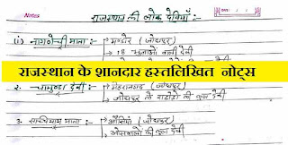 Rajasthan GK Question in Hindi Download PDF