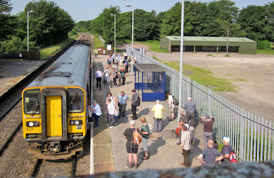 A busy scene on platform one at Brigg railway station - see Nigel Fisher's Brigg Blog