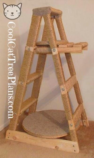 Build A Cat Tree Ladder