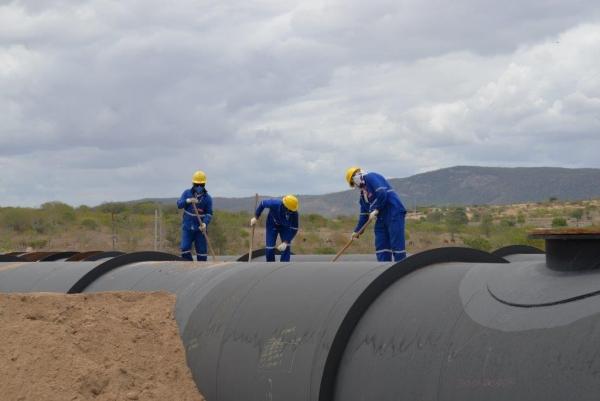 Obra do Canal do Sertão aumenta em 95,5% número de trabalhadores