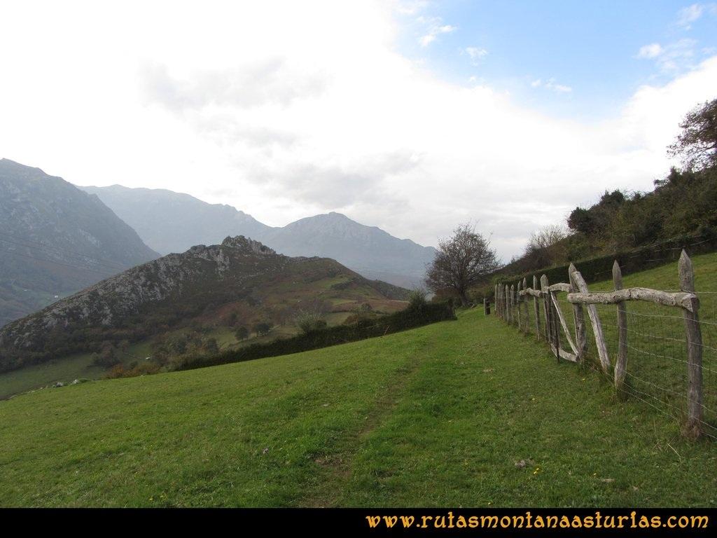 Ruta Baiña, Magarrón, Bustiello, Castiello. Pradera