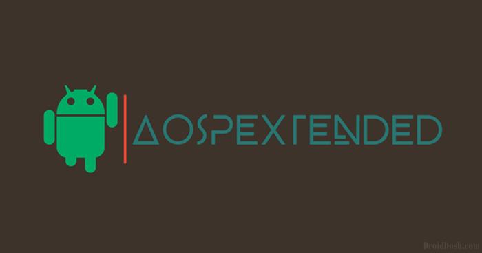 AOSP EXTENDED v2.0 Nougat (7.1.1) for Lenovo A6000/+