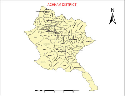 Map of Achham District