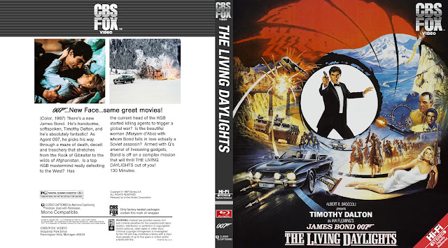 The Living Daylights Bluray Cover