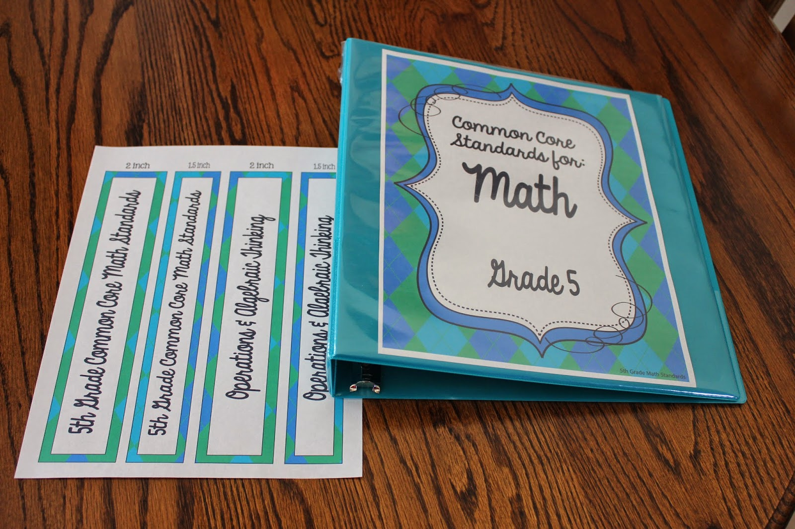 Common Core Binder & Tracker: Putting It All Together