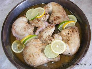 Preparare friptura de pui cu lamaie la cuptor retete culinare,
