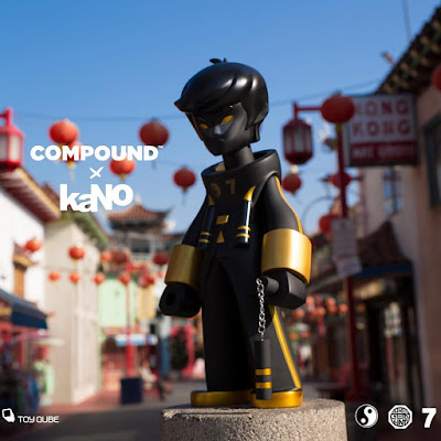 "Compound Exclusive Dragon King Black & Gold Edition 20"" Vinyl Figure by kaNO x ToyQube"