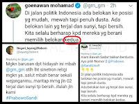 """Goenawan Mohamad """"Berani Memilih Belokan Kedua"""", Warganet SIKAT BALIK: Tumben.."""