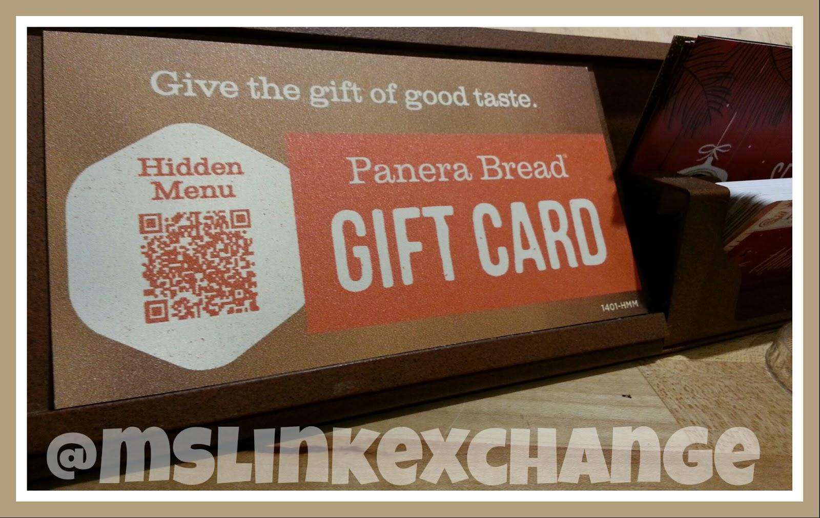 Photo of QR code at Panera bread