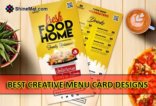 creative menu card design Shinemat