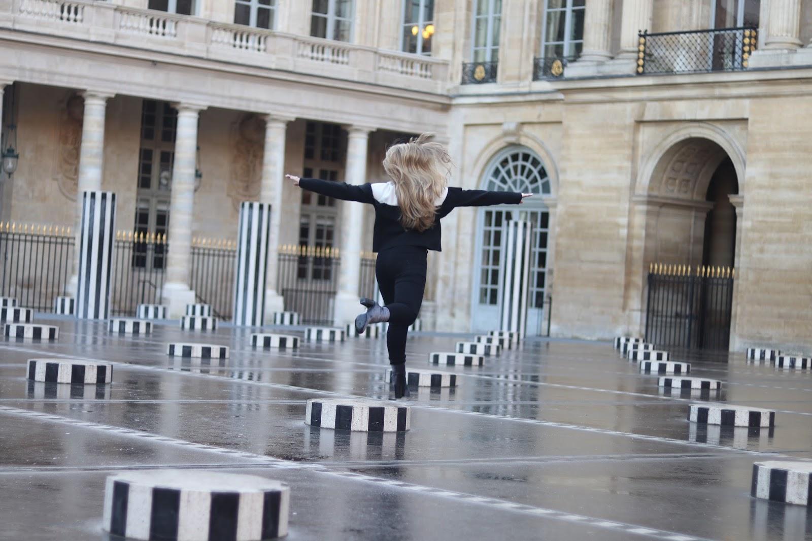 Palais Royal, Black and White pillars Paris, Paris, France, KALANCHOE, Katie Heath