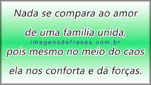 Nada se compara ao amor de uma família unida