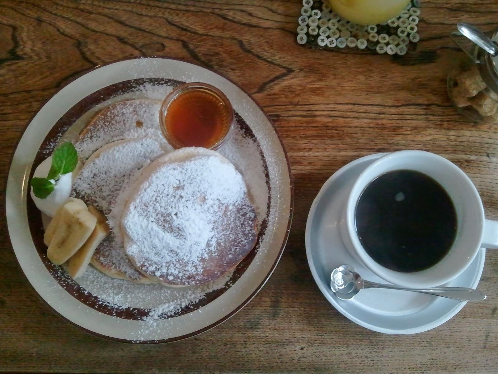 メープルパンケーキセット totan cotton cafe