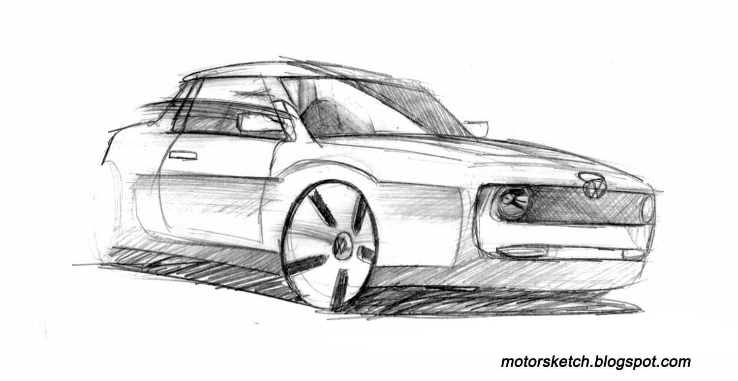 Cool Car Drawings In Pencil Drawing Of A VolkswagenCool Easy Cars