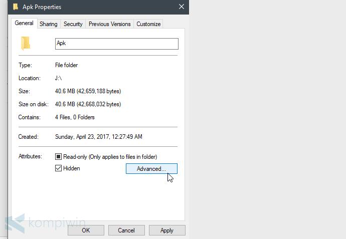 file sembunyi