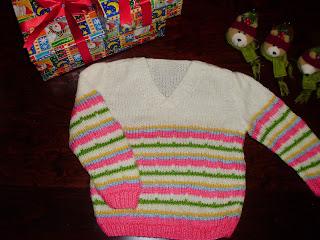 489fc944f9e Χειροποίητο παιδικό πλεκτό πουλοβεράκι με πολλά χαρούμενα χρώματα για  κοριτσάκια