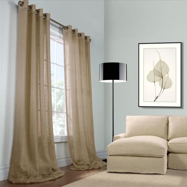 rideaux lin rideaux et voilages. Black Bedroom Furniture Sets. Home Design Ideas