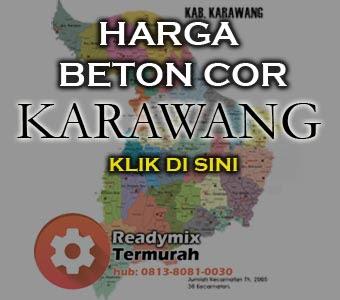 Harga Beton Cor Karawang