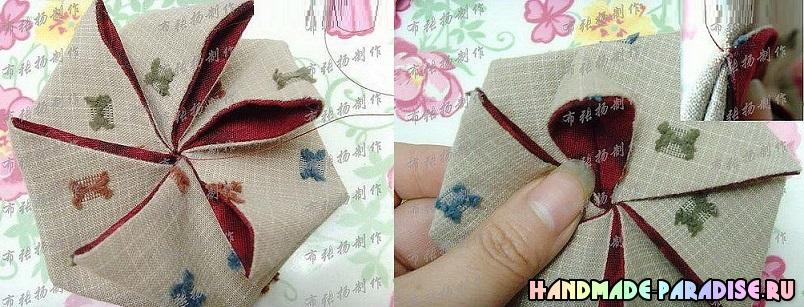 Patchwork bolsa de verano en el arte del origami