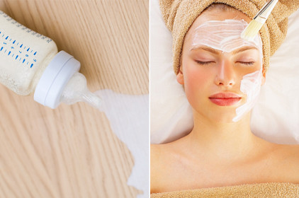 تفتيح البشرة ماسك الحليب لتبييض البشرة :