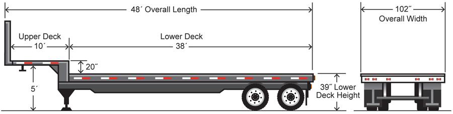 Semi Tractor Dimension Chart
