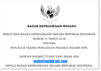 Peraturan BKN Nomor 14 Tahun 2018