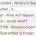 What's Definitely Happening in September?
