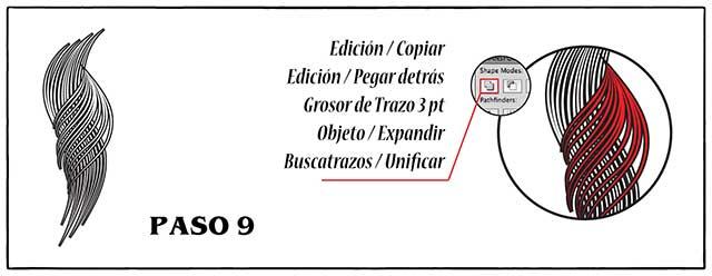 Tutorial en español de Adobe Illustrator para Crear Cabello Estilizado Paso 09