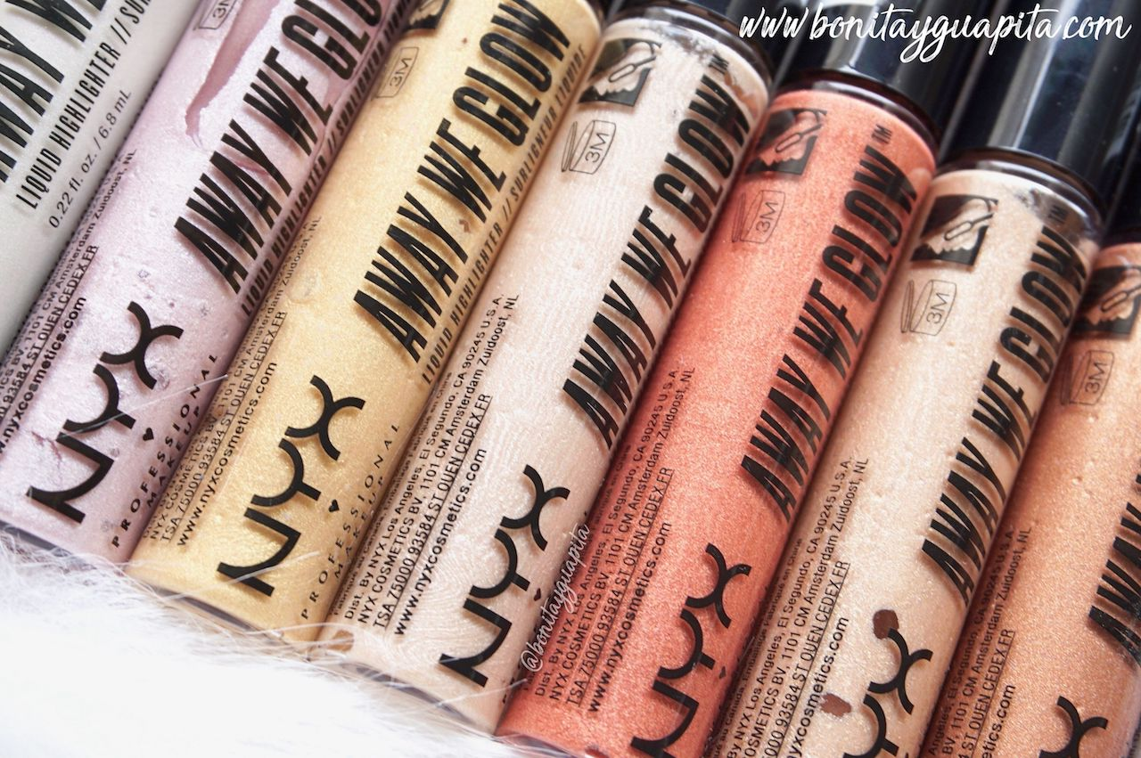 iluminadores away we glow nyx