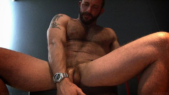 Hairy Gay Porn Star Morgan Black Jerks Off At Tim Jack -8627