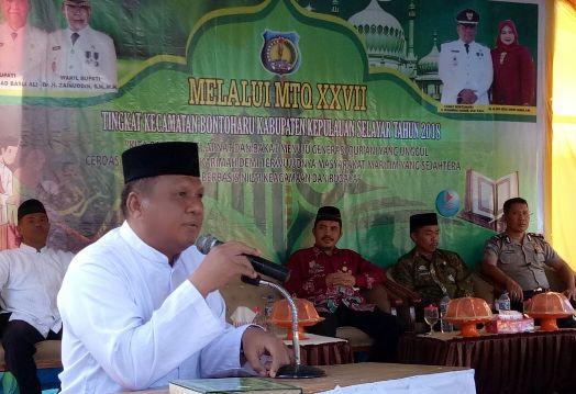 MTQ Kecamatan Bontoharu 2018, Resmi Di Buka