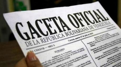 Léase decretos presidenciales de la Gaceta oficial Nº 41.138
