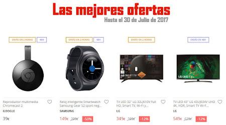 Las mejores ofertas hasta el 30 de julio de 2017 de El Corte Inglés