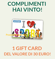 Logo Gioca e vinci gratis anche tu una delle 242 Gift Card Decathlon o Smartbox! Sei ancora in tempo