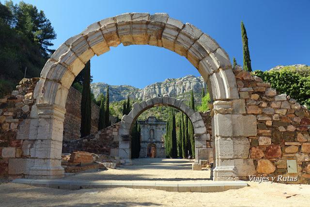 Arco de entrada a la Cartuja de Escaladei, Tarragona