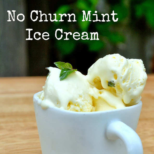 no churn mint ice cream