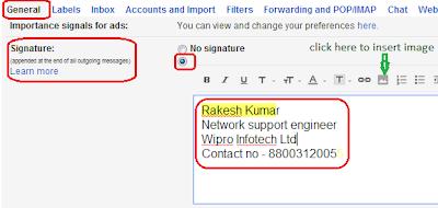 Create E-mail Signature in Gmail