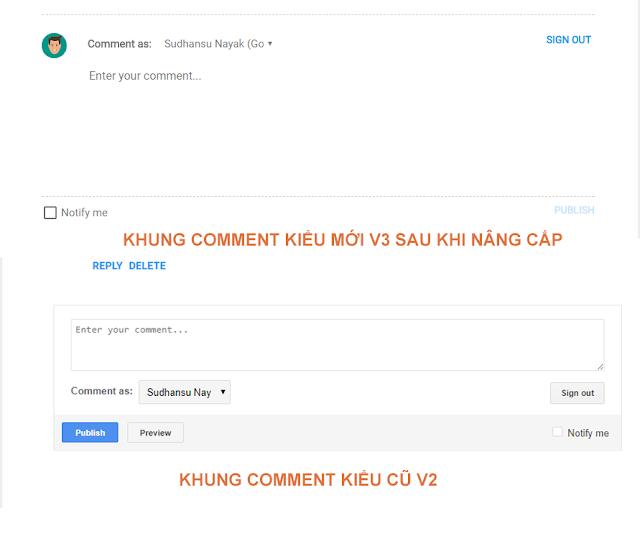 Hướng dẫn nâng cấp khung comment v3 mới nhất cho blogger với 2 bước nhanh chóng
