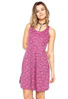 Moda Vestido FiveBlu Curto Estampado Rosa