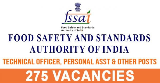 FSSAI Recruitment (2019) – All India 275 vacancies for Technical Officer Apply Online