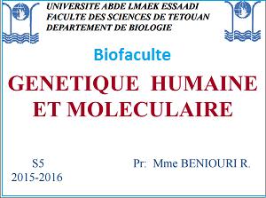 Génétique humain et moléculaire