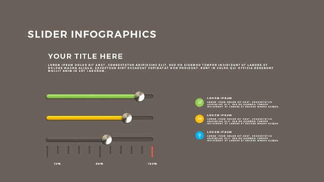 Free PowerPoint Template with Slider Infographics Slide 8