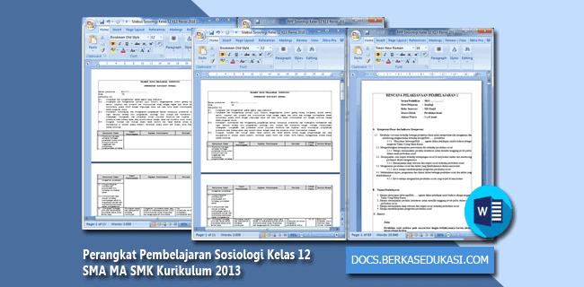 Perangkat Pembelajaran Sosiologi Kelas 12 SMA MA SMK Kurikulum 2013