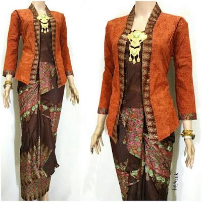Rok dan Blouse Batik Anisa motif prada orange