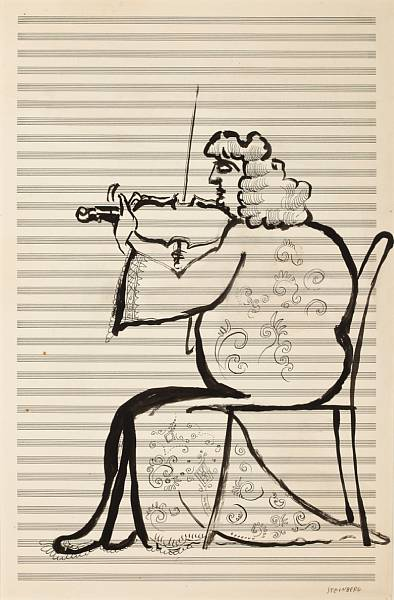 Attempted Bloggery: Saul Steinberg Violin Solo and Liberty Duet