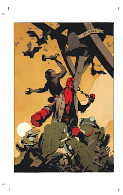San Diego Comic-Con 2018 Exclusive Hellboy 25th Anniversary Print by Mike Mignola
