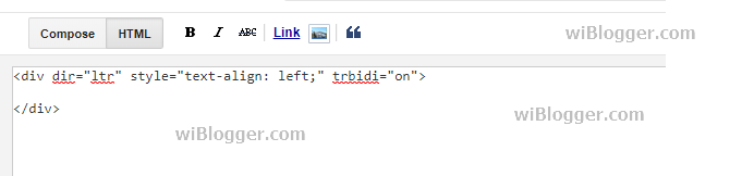 "Menghilangkan <div dir=""ltr"" style=""text-align: left;"" trbidi=""on"">"