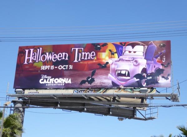 Halloween Time Disney Theme Parks billboard